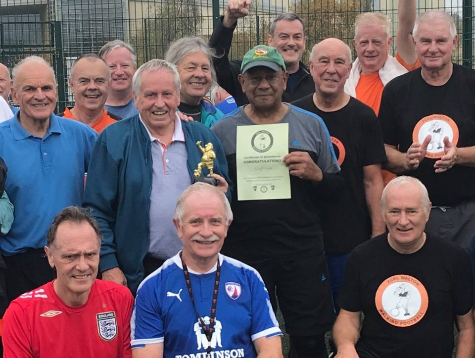 Geoff Singh Achieves 150 Appearances at Walton Walking Football